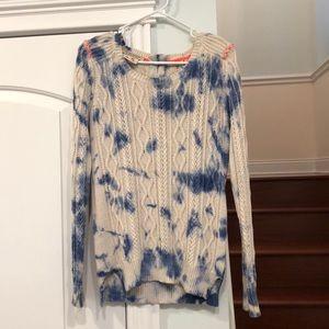 Maison Scotch Tie-Dye Cable-knit Sweater